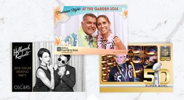 Selfie Station prints with custom frames